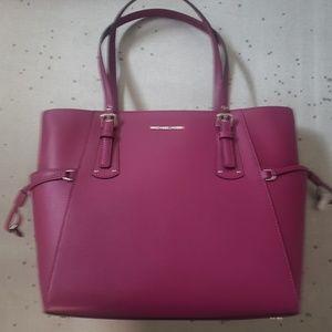 New Michael kors saffiano large leather satchel